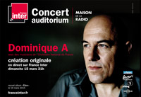 Concert de Dominique A sur France Inter et Arte Concert